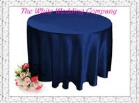 Wholesale Round Satin NAVY BLUE Tablecloths for Weddings Table Cover Table Cloth Round Tablecloths Wedding Table
