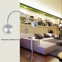 background tube - LED Bedside Lamp Reading Wall Lamps Soft Tube Adjustable W Background Mirror Light Flexible Light Warm White Without Switch