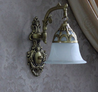 antique glass sconce shade - wall lamp Mediterranean wall sconce Antique Wall Lighting frosted glass shade for bedroom hallway