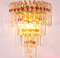 art deco lamp prisms - Luxury k9 crystal wall lamp for stair lamp sitting room lamp crystal glass prism lamp