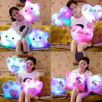 led pillow - Romantic LED Light Up Colorful Soft Pillow Cushion Bear s Paw Heart Love Square Free Express