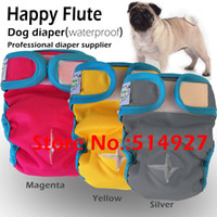 pet and dog diapers - Happy flute dog cloth diaper pet cloth diaper pet diaper same material as baby diaper waterproof and breathable