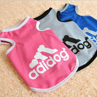 Wholesale Colorful Cotton Pet Cat Dog Clothes Clothing Coat Shirt Dress High Quality