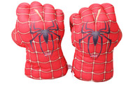 best movie props - Hot sale film movie The avengers spider man Thor Gloves children best gift cosplay Props red color