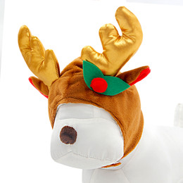 Wholesale Pet Dog Warm Clothing Dog Winter Hats Elk Antlers Cute Cat Dog Grooming Hats Christmas Pet Hats Pet Supplies S M L