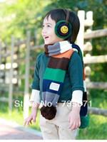 baby block decoration - Child multicolour fur ball scarf multi colored ball color block decoration baby muffler scarf