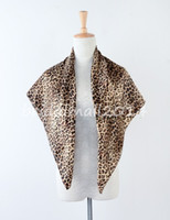 Cheap Wholesale-Fashion Leopard grain scarf women 2015 anchor scarf satin large square scarf 90 * 90 cm red silk scarf Mixed style SL02