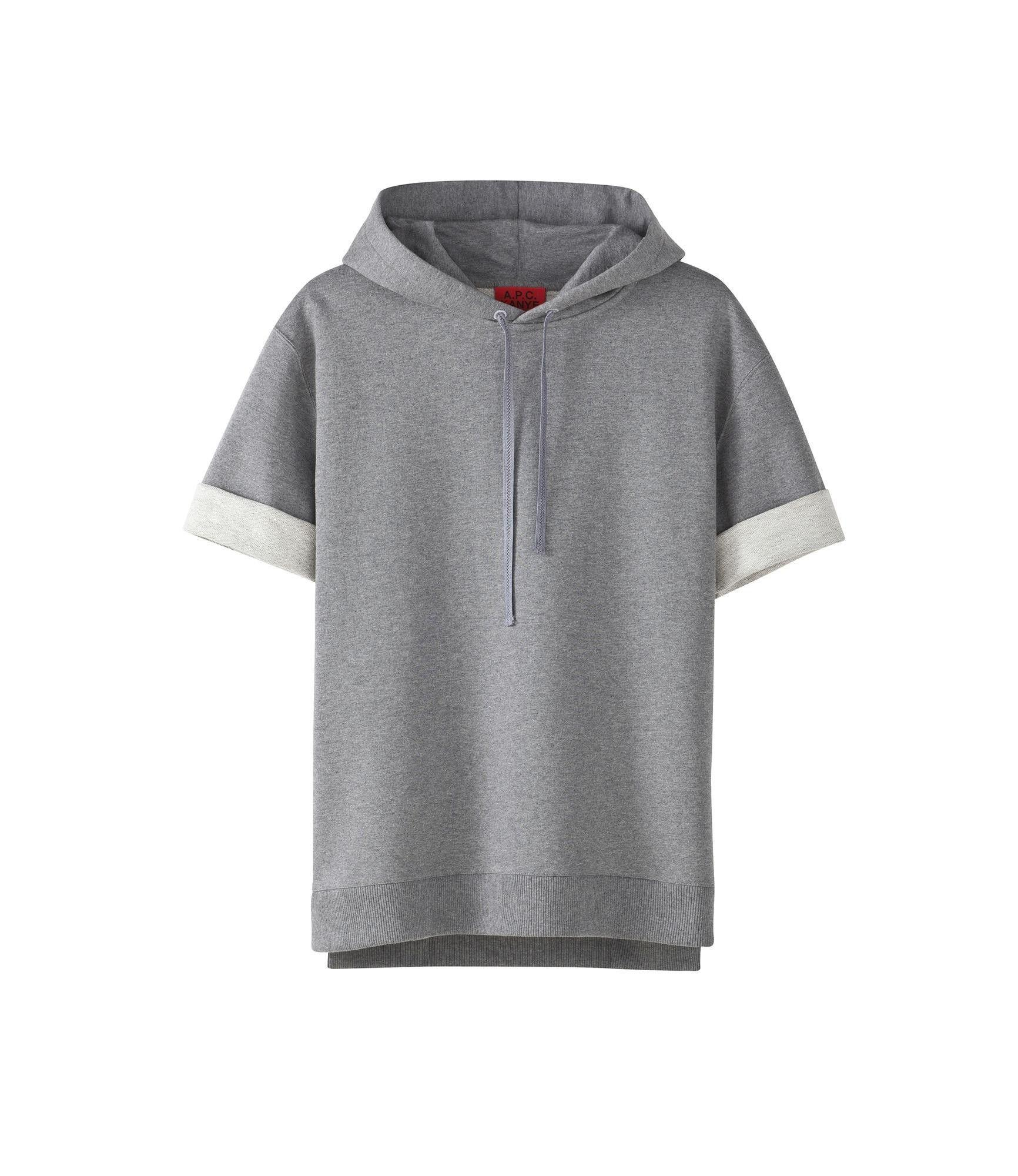 Wholesale-Free shipping unique A.p.c x kanye pullover half sleeve sweatshirt apc kanyewest hoodie black and gray