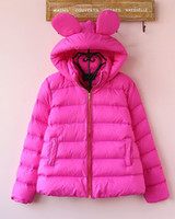 bat mouse - Snow Wear Wadded Jacket Female Autumn And Winter Mouse Ear Casual Cotton padded Outerwear Winter Coat Women