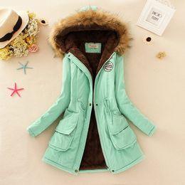 Wholesale-2015 Thickening Warm Jackets for Women New Women's Down Parka Plus Size Parka Womens Hoddies Parkas for Women Winter