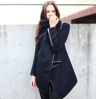 ag coat - autumn winter thin and light fashion jacket female long sleeve overcoat wool coat for women winter women trench coat AG