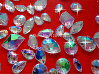 Wholesale mixe300pcs loading Different sizes and shapes AB colour sew on Acrylic crystal loose beads gemstone hand sewing Rhinestonem