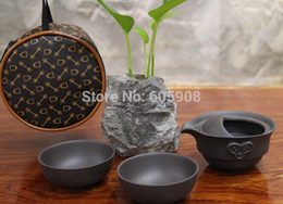 Wholesale Quick and Easy Type Teapot Cup With Beautiful Bag Teapot Cups g Black Tea Ceramic Kung Fu Portable Travel Tea Cup