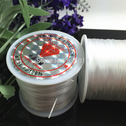 Wholesale Stretchy Bracelet String Wholesale - Wholesale-White Elastic Beading String 60metres roll of Strong And Stretchy,Elastic Jewelry Cord For DIY Jewelry Craft Bracelet Making