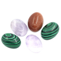 amethyst cabochons - Trendy New Gold Sand Stone Amethyst Syn Malachite Cabochons Flatback Oval Mixed
