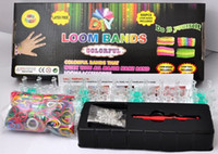 Precio de Banda de goma al por mayor del kit de pulsera-Barco de juguete por mayor-Libre Loom regalo bandas Kits Diversión Loom goma bandas Kit pulseras DIY colorido juguete Niños