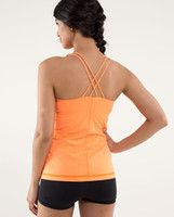 best yoga clothing - Best Women Fitness Clothes Comfortable Lulu Tops With Bra Casual Yoga Shirt