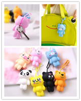 Wholesale Key Case newest cartoon animals key chain purse silicone Key Wallets gifts