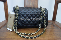 Wholesale New Arrival brands chain designer handbag Women s Double Flap Bag Quilted Caviar Flap chain Bag