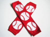baseball photo props - Red and White Baseball Leg Warmers Baby leg warmers Photo Prop unisex Pick your colors