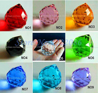 Wholesale Faceted Crystal Ball mm Hanging Healing Crystals Prisms Mixed Color Pc rings