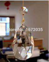 Wholesale mm Water Drop Pendant mm Octagon Bead Crystal Chandelier Lights Modern LED Lamps Lustre Cristal Lighting Decoration
