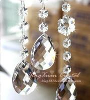 Wholesale mm crystal glass chandelier prism parts lighting pendant almond shape