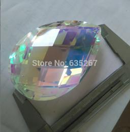 Wholesale-2pcs lot, 76MM ab almond pendant crystal chandelier prism lighting parts pendant sun catchers prism