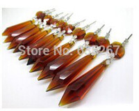 amber healing - amber color Chandelier Glass Crystals Octagon beads Healing Lamp Prisms Parts Hanging Drops Pendants inches