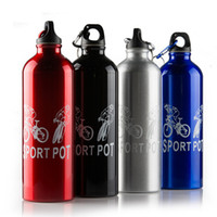 aluminium drinking bottles - Fashion Casual Outdoor Aluminium Alloy Water Bottle Bicycle for Hiking in the Mountains Racing Sports Bottle Hiking Accessories