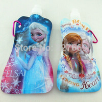 acid drinking water - Pieces New Cartoon Princess Elsa amp Anna Portable Folding Sports Water Bottle ml oz Collapsible Water Bottle