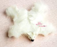 bear rug - Soft White bear Carpet Rug Dollhouse Miniature Lovely