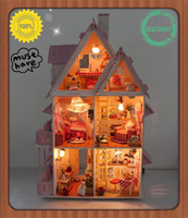 big dolls houses - Assembling DIY Miniature Model Kit Wooden Doll House nique Big Size House Toy With Furnitures English instrutions