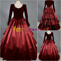 Wholesale Custom Made Southern Civil War Dress Civil War Ball Gowns Women Cosplay Costume V068
