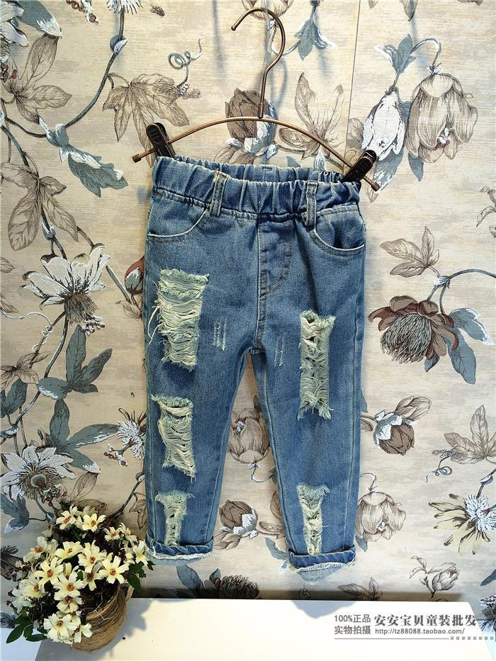 Wholesale-baby children's clothing wholesale denim fall girls kids winter  pants boys ripped jeans new kids fashion baby boy - Wholesale-baby Children's Clothing Wholesale Denim Fall Girls Kids