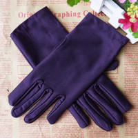 Wholesale Hot Fashion Women Candy Colors Evening Party Wedding Formal Prom Satin Gloves