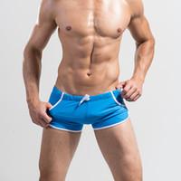 assorted boxer - Men s Swim Trunks Assorted Color Sexy Swimwear Boxers Briefs Underwear Colors