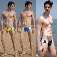Wholesale Sexy Men Swimming Briefs Triangle Trunks Pants Shorts Swimwear M L XL Colors