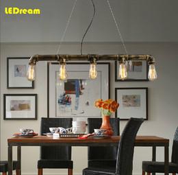 Wholesale-Edison Personalized bar Lighting counter lamps vintage pendant lights water pipe pendant lamp for Warehouse 3pcs E27 bulbs