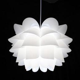 Wholesale-IQ PVC Lily Flowers Lamp Shape DIY Pendant Lights LED Light Fixtures for Home,Dia.35cm,45cm,Free Shipping