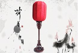 Wholesale Ancient Incense antique wood living room lights sheepskin lamp Wooden Chinese lanterns MAK PVC bedroom floor lamp
