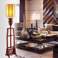 antique wood floor lamp - Antique wood floor lamp bedroom lamp living room lights the restaurant classical study bedside lamp floor lamp