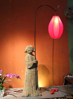 antique lady lamp - Cheap Chinese antique lighting technology Chinese style hotel clubs tea ladies retro floor lamp large lights