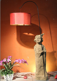 Wholesale Hotel Club Hotel Tea Chinese antique decorative home accessories crafts lamp floor lamp lamp Daming Palace