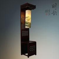 antique wood floors - Painted eggshell ceramic lamp antique floor lamp lighting Chinese creative study lamp living room vertical wood decorative light