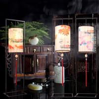 painted furniture - Chinese painting painted iron floor lamp aisle restaurants study furniture decorative floor lamp