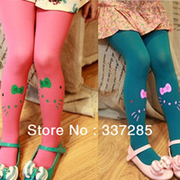 Cheap Wholesale-autumn tights for children lovely cats tights for girls multicolor tights for kids warm tights for girls autumn wholesale