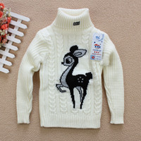 baby sweater knitting pattern - Stand Collar Deer Pattern Pullovers For Kids Boys And Girls Autumn winter Knitted Sweater For Baby Infant Cotton Turtleneck Coat