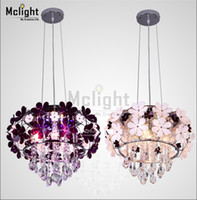Wholesale Modern lustre crystal lampshade Luxury fashion flower crystal chandelier lamp lights