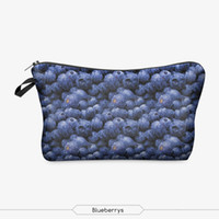 beautiful berry - New Arrival Fashion Beautiful D Blue Berry Vintage Portable Travel Cosmetic Cases BagWomen Cute Make up Bags